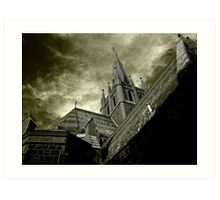 St Mary of the Angels - Standing Against Satan #1 Art Print
