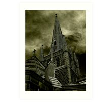 St Mary of the Angels - Standing Against Satan #2 Art Print