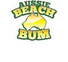 Aussie Beach Bum cute Australian design with map of Australia Photographic Print