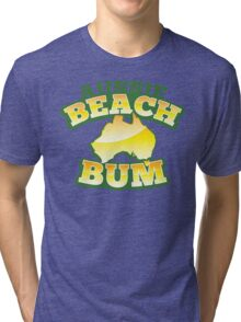 Aussie Beach Bum cute Australian design with map of Australia Tri-blend T-Shirt