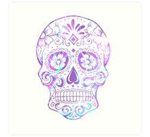 Purple Skull Art Print