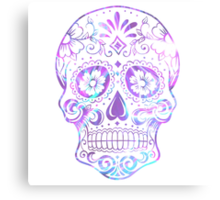 Purple Skull Canvas Print