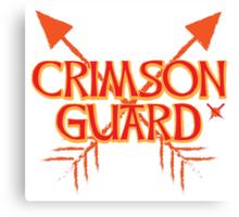 CRIMSON GUARD sigil with arrows crossed  Canvas Print