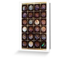 Chocolate Truffles Greeting Card