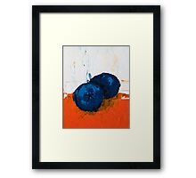 Sunken Blueberry Framed Print