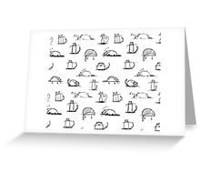 CATS | PATTERN  Greeting Card