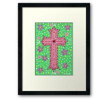 Springtime Floral Cross, Easter Cross Framed Print