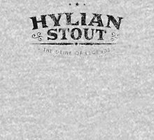 Hylian Stout - The Drink of Legends Black on White Unisex T-Shirt