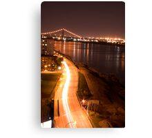 Light line to the bridge Canvas Print