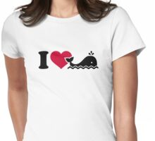 I love Whales Womens Fitted T-Shirt