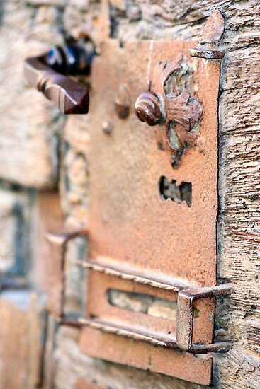 Rusty Door Latch by Pamela Jayne Smith
