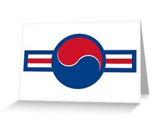Roundel of South Korea Air Force, 1950s-2000 Greeting Card