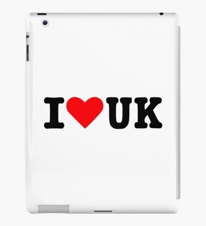 I love UK iPad Case/Skin