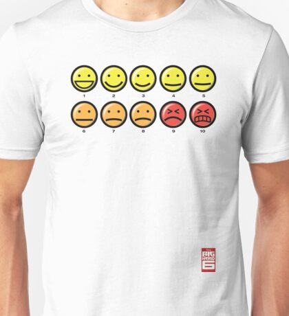 """On a scale of 1 to 10, how would you rate your pain?"" Unisex T-Shirt"