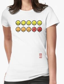 """On a scale of 1 to 10, how would you rate your pain?"" Womens Fitted T-Shirt"