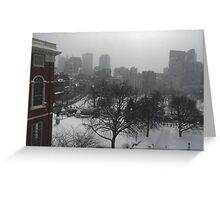 Wintry State House Window Greeting Card