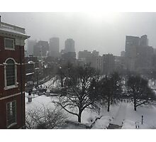 Wintry State House Window Photographic Print