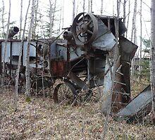 An Old Threshing Machine by MaeBelle