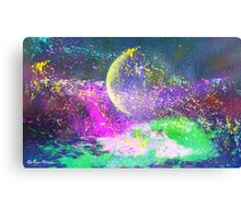 MOON- Abstract112-  Art + Products Design  Canvas Print