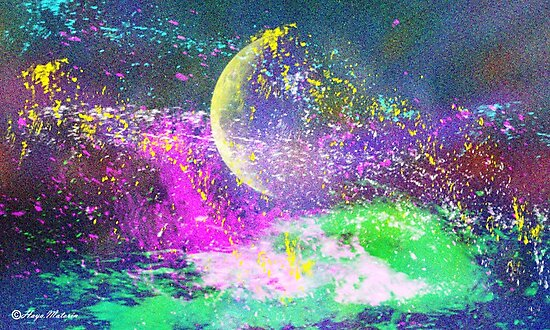 MOON- Abstract112-  Art + Products Design  by haya1812