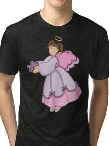 Snowflake Angel Tri-blend T-Shirt