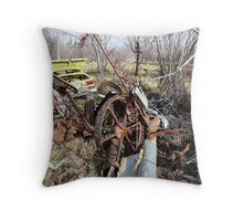 Old Horse drawn Mower Throw Pillow