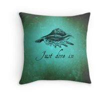 Just dive in - Shell #29 - Deep in the ocean Throw Pillow