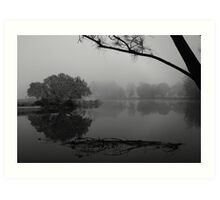 Tranquil Reflections B & W - Bedlam Creek, NSW Art Print