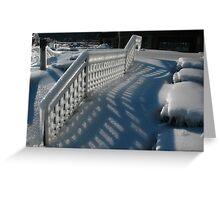 Ice railings Greeting Card