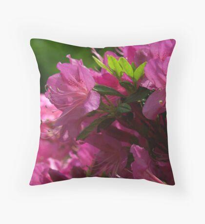 Fuchsia Azalea in Full Glory Throw Pillow
