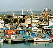 Newlyn Harbour, Cornwall. by newbeltane