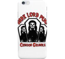 dark lord pug crimson coffin iPhone Case/Skin