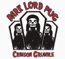dark lord pug crimson coffin T-Shirt