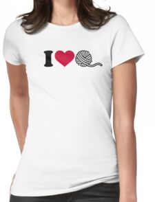 I love wool Womens Fitted T-Shirt