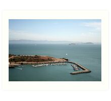View from Golden Gate bridge San Francisco CA Art Print