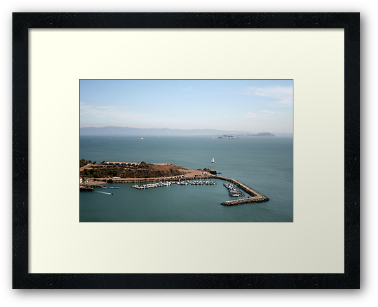 View from Golden Gate bridge San Francisco CA by Ilan Cohen