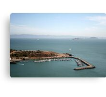 View from Golden Gate bridge San Francisco CA Canvas Print