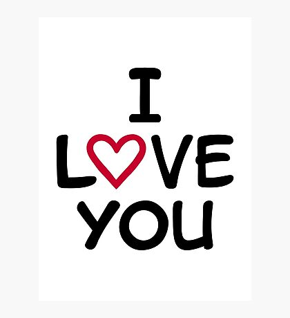 I love you red heart Photographic Print