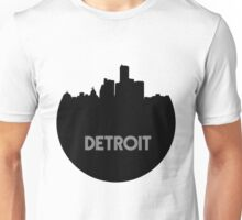 Detroit Skyline Circle Unisex T-Shirt