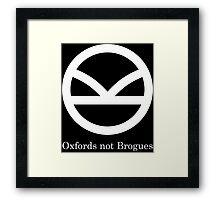 Kingsman Secret Service - Oxfords not Brogues Framed Print