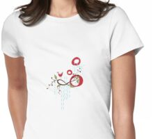 Drawing No.1 Red & Blue Womens Fitted T-Shirt