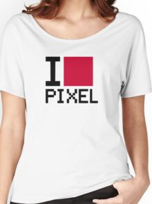 I love Pixel Women's Relaxed Fit T-Shirt