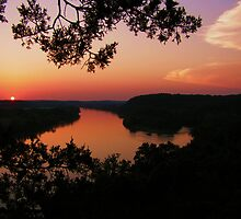 ~ Osage River Sunset ~ by Brion Marcum