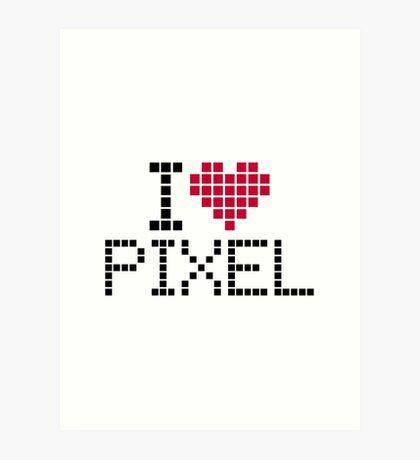 I love pixel Art Print