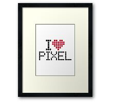 I love pixel Framed Print