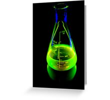 Beaker of  Sodium Fluorescein Greeting Card