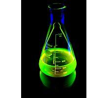 Beaker of  Sodium Fluorescein Photographic Print