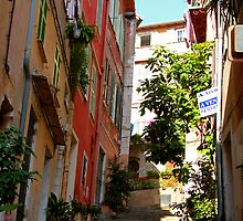 Villefranche Alleyway by Tom Gomez