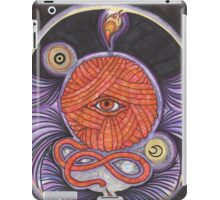 KNITCROMANCY: Unraveling the Cosmic Yarn iPad Case/Skin