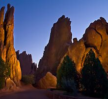 Garden of the Gods Light Painting by EvergreenImp